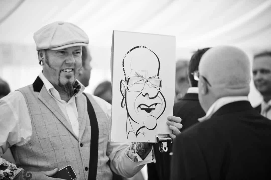 wedding caricaturist for hire