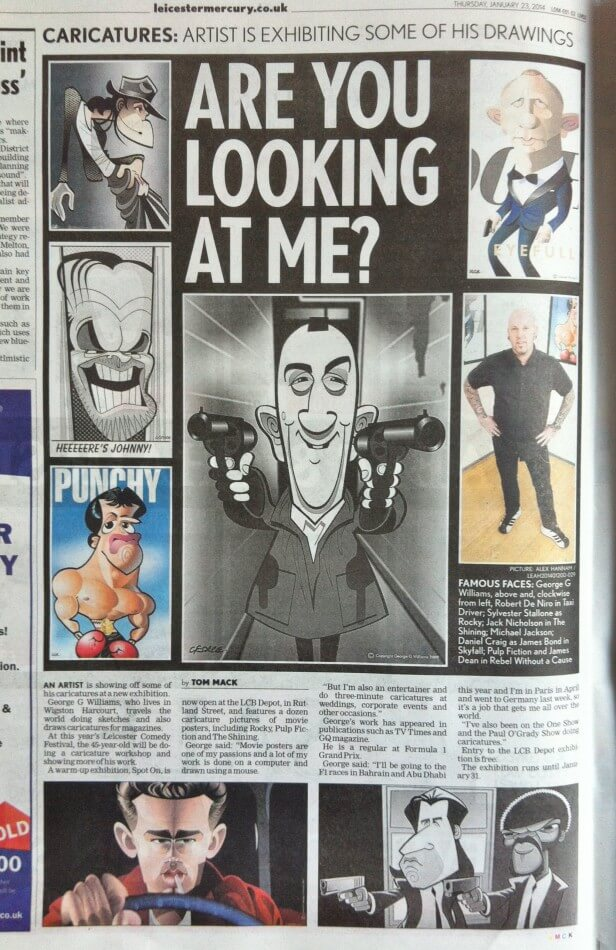 Leicester Mercury page