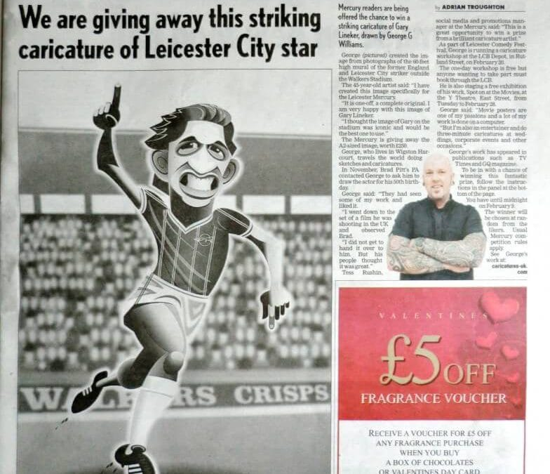 Another full page caricature in Leicester Mercury!