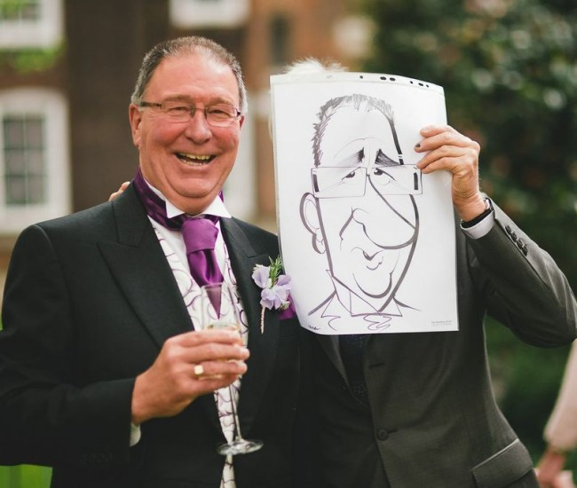 father of bride smiles