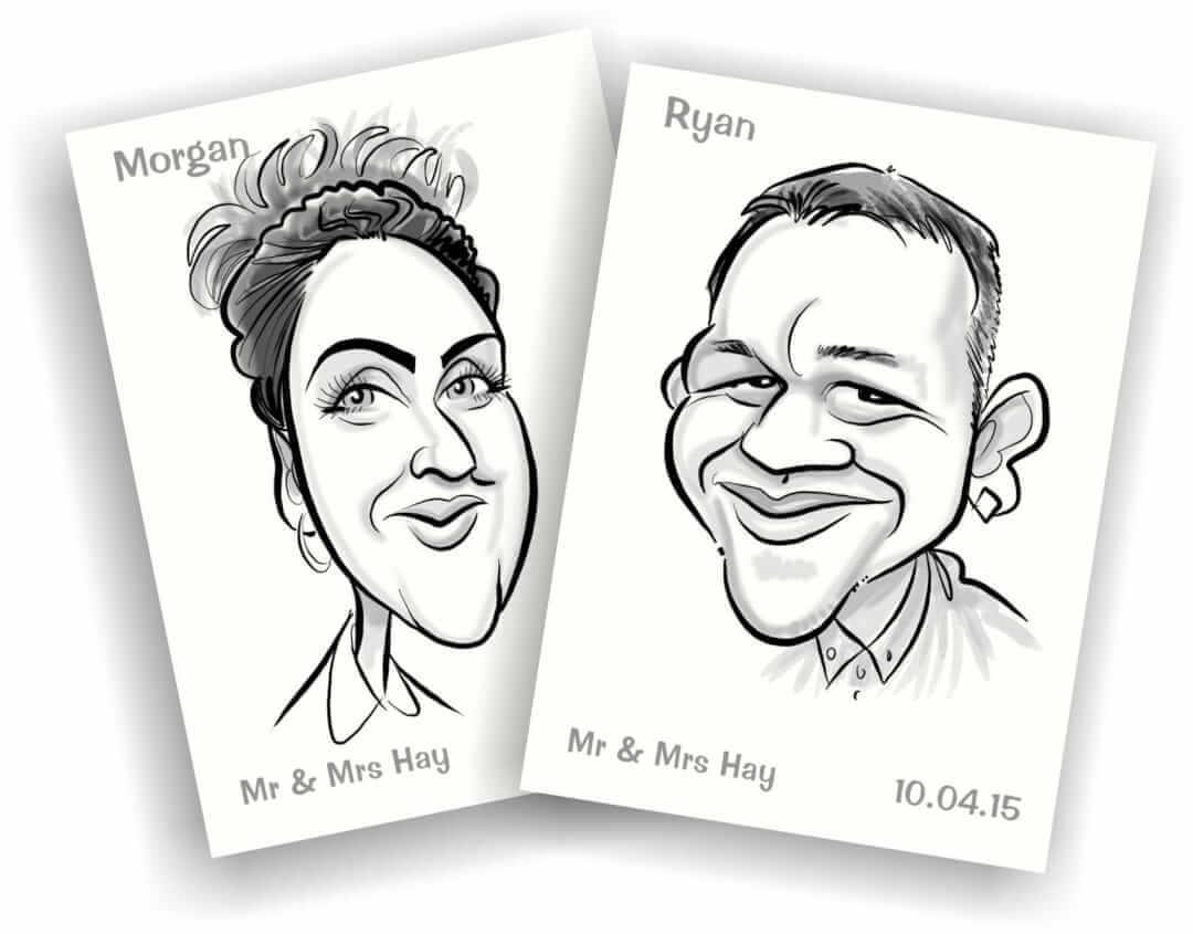 caricature place cards
